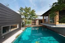 高崎・菅谷のプールのある家(コートハウス)・群馬の画像