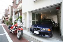 武蔵小山の狭小ガレージハウス・品川区 (建築面積 約10.1坪)の画像