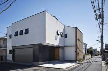 東京のガレージハウスの画像