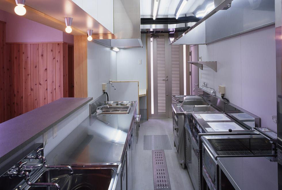 垂水の店舗併用住宅 1階店内 厨房