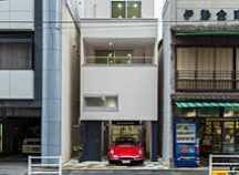 新富町の狭小ガレージハウス・東京 (建築面積約13.2坪)の画像