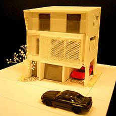 ガレージハウス模型