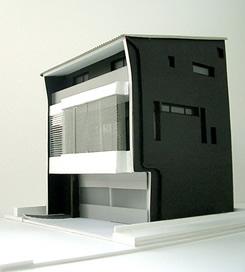 北畑氏によるガレージハウス模型