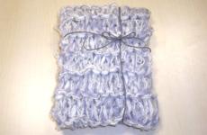 指編みのマフラー(ブルーグレー)