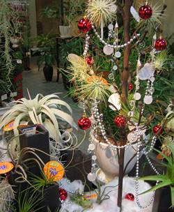 クリスマスツリーにデコレーション