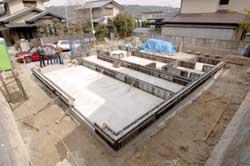 住宅・建築 建築家の住宅をプロデュース ザウス:基礎工事